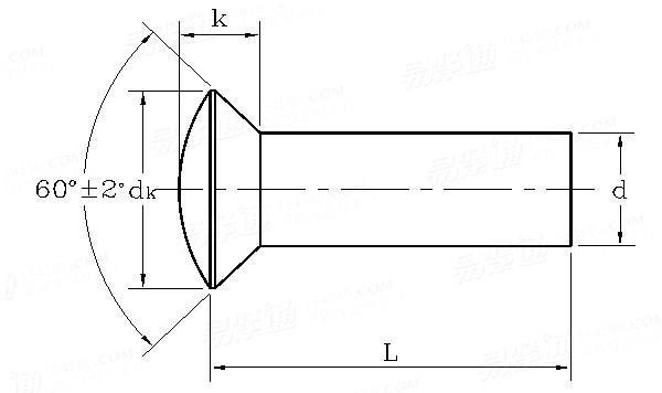 GB/T866-1986 半沉头铆钉 (粗制)